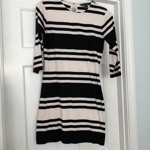 French Connection Mini Dress - Black and Cream